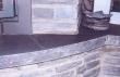 Décoration de la cheminée en pierre bleue naturelle
