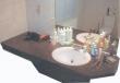Plan d'évier de salle de bain en granit dur