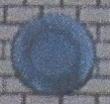 Oeil de boeuf en pierre bleue naturelle